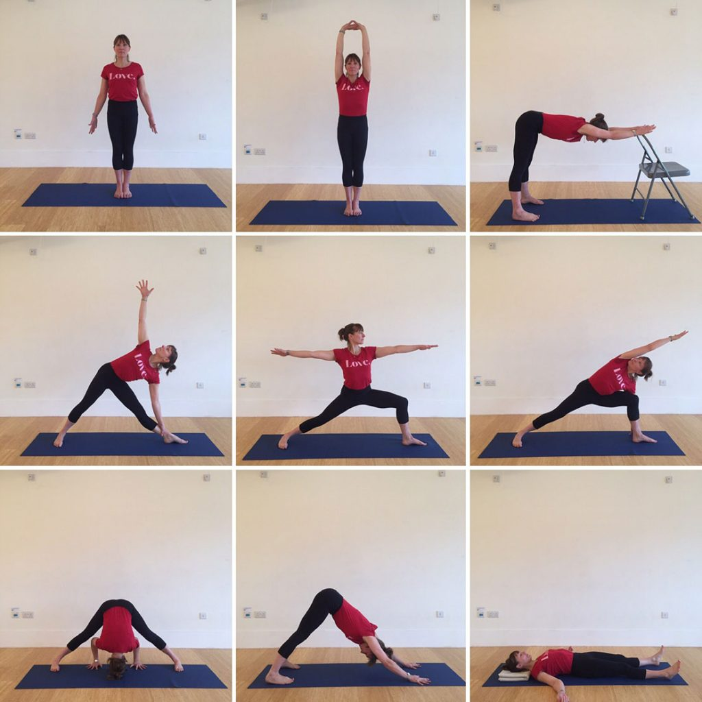 Yoga home practice - Standings, Beginners General Level