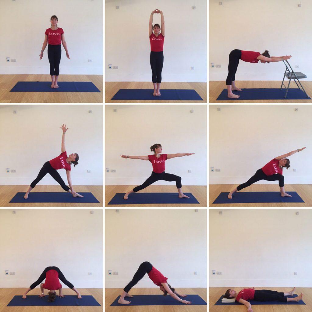 Yoga home practice - Standings, Beginners General Level